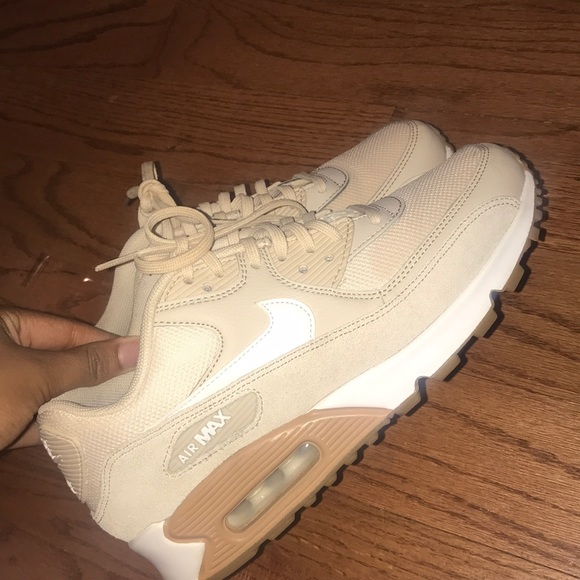 sale retailer 8e5fe dae84 Women's Nike Air Max 90 Tan/Cream Size 6.5